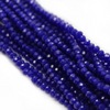 Chinese Glass Crystal, Rondelle, Dark Blue Opaque, 3mm X 2.5mm, 140 pcs per strand