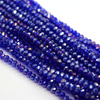 Chinese Glass Crystal, Rondelle, Royal Blue AB, 2mm X 2.5mm, 190 pcs per strand
