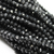 Chinese Glass Crystal, Rondelle, Black Opaque, 6mm X 4mm, 95 pcs per strand