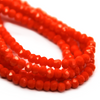 Chinese Glass Crystal, Rondelle, Orange Opaque, 3mm X 2.5mm, 140 pcs per strand