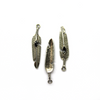Charms, Black Feather, Silver, Alloy, 27mm X 5mm, Sold Per pkg of 6