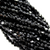 Chinese Glass Crystal, Bicone, Black, 3mm, 140 pcs per strand