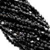 Chinese Glass Crystal, Bicone, Black, 6mm, 45 pcs per strand