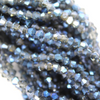 Chinese Glass Crystal, Bicone, Light Denim Blue AB, 3mm, 140 pcs per strand