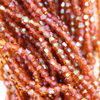 Chinese Glass Crystal, Bicone, Dark Topaz AB, 2mm, 190 pcs per strand