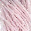 Chinese Glass Crystal, Bicone, Frosted Pink, 2mm, 190 pcs per strand