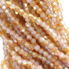 Chinese Glass Crystal, Bicone, Crystal Beige, 4mm, 100 pcs per strand