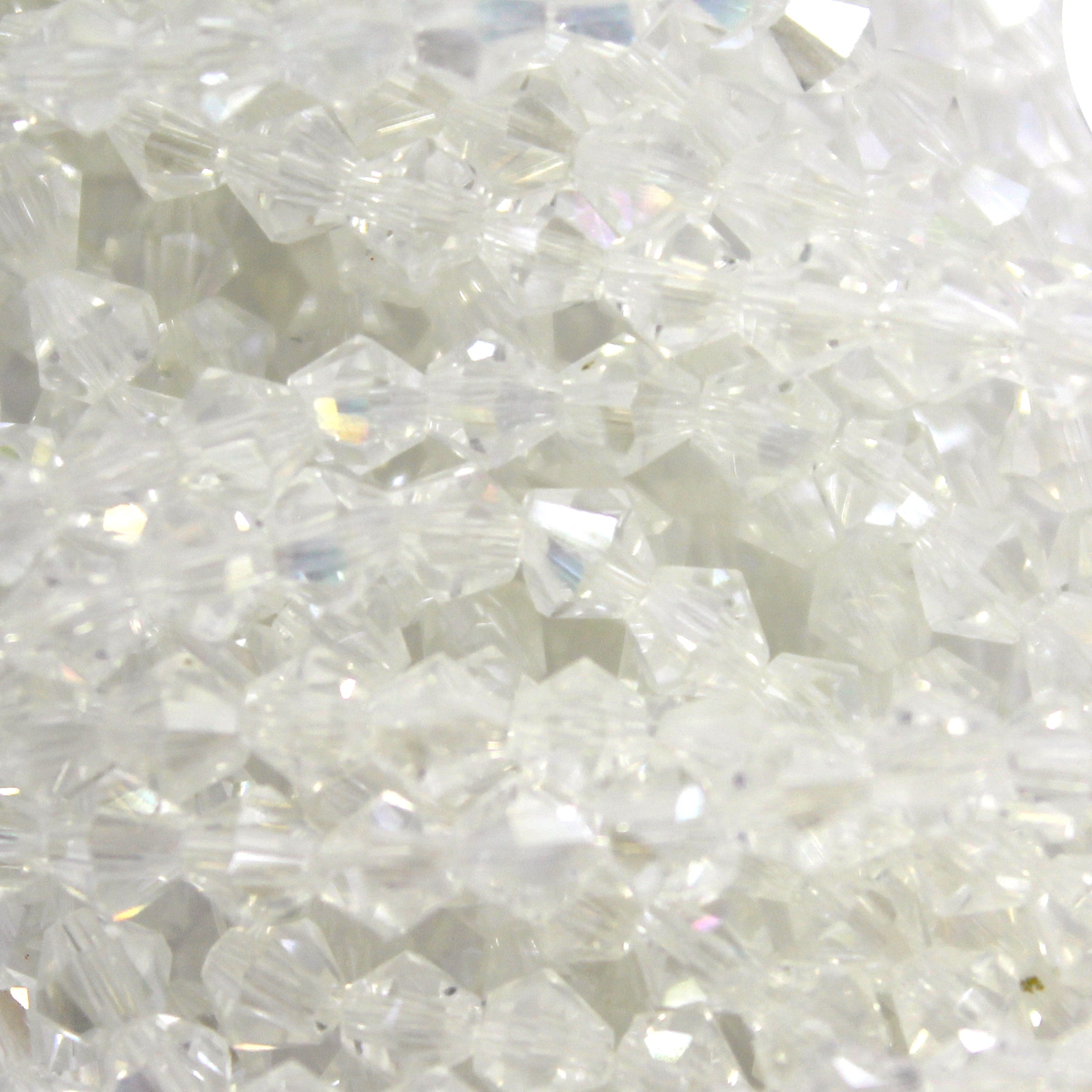 Chinese Glass Crystal, Bicone, Sparkling Crystal, 3mm, 140 pcs per strand