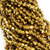 Chinese Glass Crystal, Bicone, Antique Gold, 4mm, 100 pcs per strand