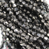 Chinese Glass Crystal, Bicone, Charcoal Opaque, 3mm, 140 pcs per strand