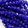 Chinese Glass Crystal, Round, Dark Blue Opaque, 4mm, 95 pcs per strand