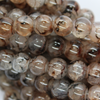 Marble Style Glass Beads, Midnight Brown, 8mm  - 1mm (hole), 100 pcs per strand