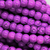 Marble Style Glass Beads, Iris Purple Opaque, 4mm  - 1mm (hole), 195 pcs per strand