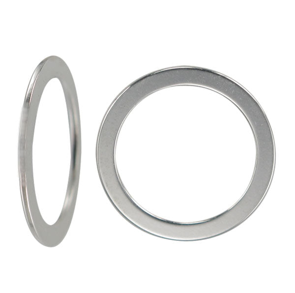 Jump Rings, Closed, Sterling Silver, 10mm X 0.8mm , 1pc