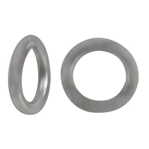 Jump Rings, Closed, Rhodium plated on Sterling Silver, 5mm, 18Ga, Sold Per pkg of 2