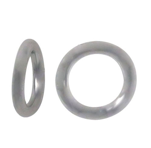 Closed Rings, Rhodium plated on Sterling Silver, 6mm , Sold Per pkg of 2