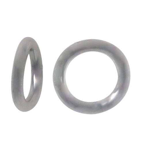 Closed Rings, Rhodium plated on Sterling Silver, 7mm , Sold Per pkg of 2