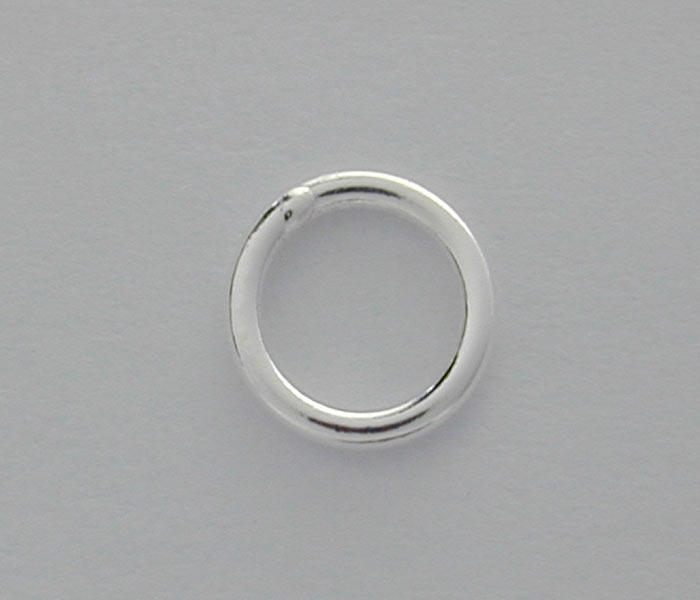 Jump Rings, Closed, Sterling Silver, 5mm/0.7mm , Sold Per pkg of 2