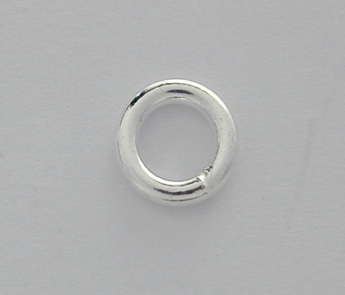 Closed Rings, Sterling Silver, 4mm , Sold Per pkg of 2