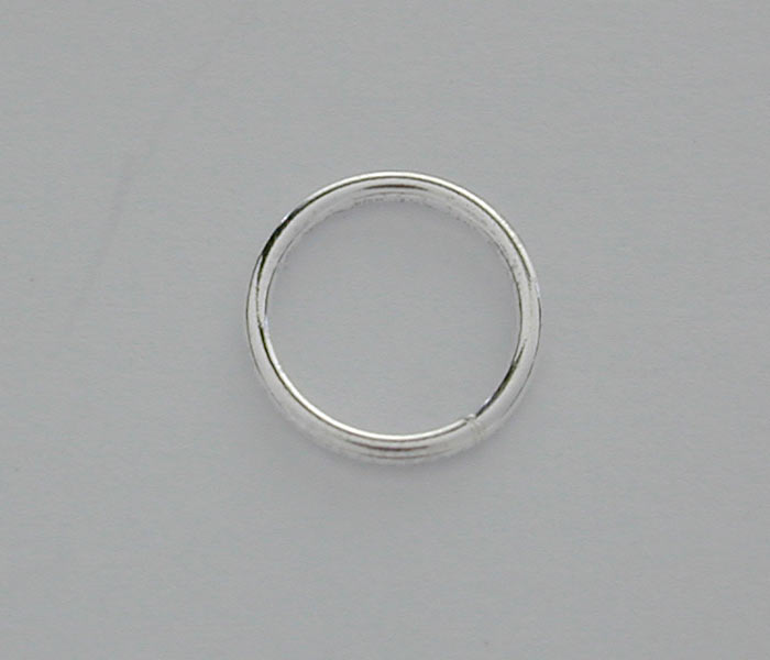 Closed Rings, Sterling Silver, 7mm , Sold Per pkg of 2