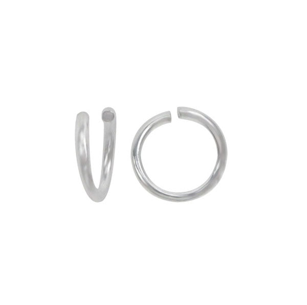Jump Rings, Sterling Silver, 3.5mm/0.7mm, 4pcs