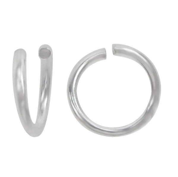 Jump Rings, Sterling Silver, 7mm/1.2mm, Sold Per pkg of 2