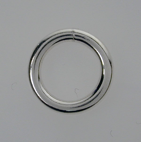 Closed Rings, Rhodium plated on Sterling Silver, 5mm, 2pcs