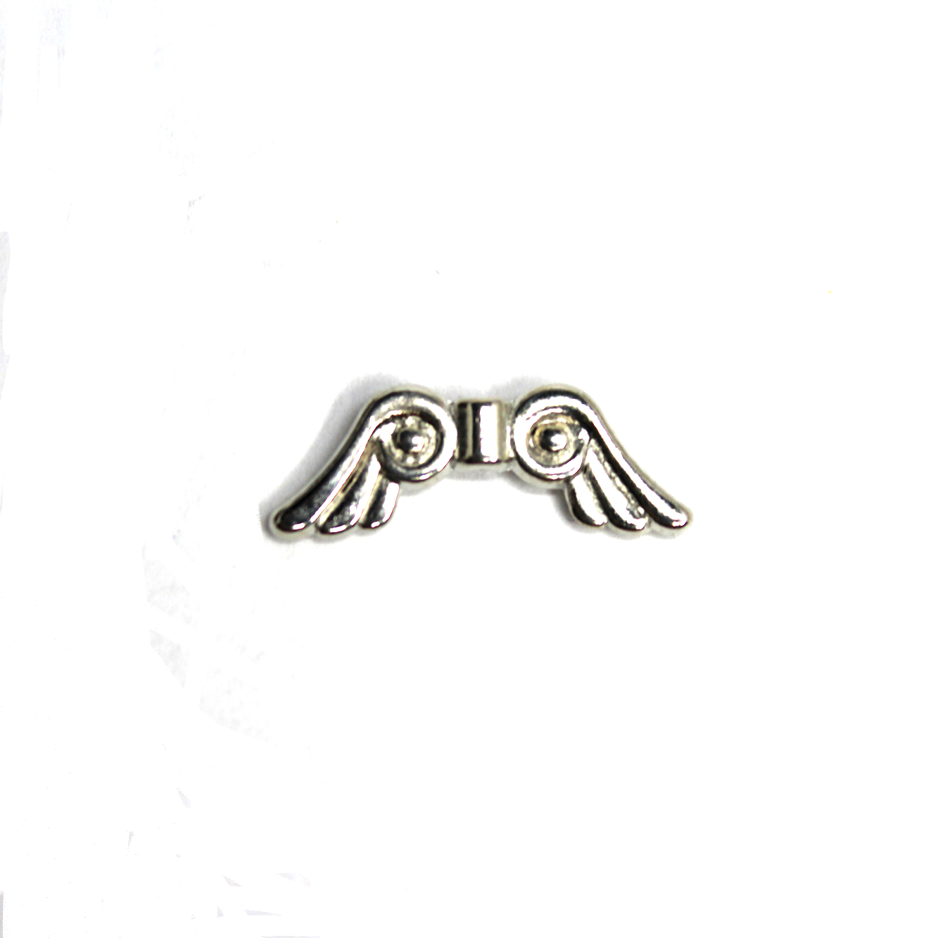 Spacers, Angel Wing Spacer, Alloy, 21mm X 8mm, Available in Bright Silver or Antique Silver, 10 pcs - Butterfly Beads