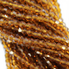 Chinese Glass Crystal, Bicone, Light Brown, 2mm, 190 pcs per strand