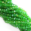 Chinese Glass Crystal, Round, Light Green AB, 2mm, 190 pcs per strand