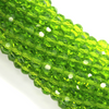 Chinese Glass Crystal, Round, Lime Green, 4mm, 95 pcs per strand