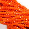 Chinese Glass Crystal, Round, Orange Opaque, 2mm, 190 pcs per strand
