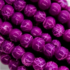 Marble Style Glass Beads, Purple Opaque, 4mm  - 1mm (hole), 195 pcs per strand