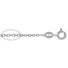 Chain, Smooth Oval Link, Sterling Silver, 22inch - 1pc