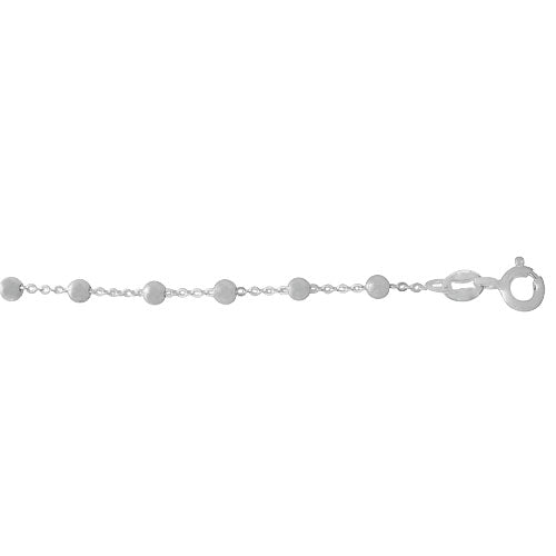 Chain, Ball Bead, Sterling Silver, 22inch - 1pc