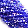 Chinese Glass Crystal, Bicone, Royal Blue AB, 6mm, 45 pcs per strand