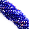 Chinese Glass Crystal, Round, Royal Blue AB, 2mm, 190 pcs per strand