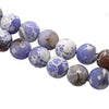 Sky Blue and White Agate Faceted, Semi-Precious Stone, 18mm, 22 pcs per strand