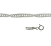 Chain, Twisted Singapore, Sterling Silver, 24inch - 1pc
