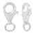 Clasp, Lobster Clasp, Sterling Silver, 18mm X 10mm X 4mm, Sold Per pkg of 1