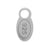 Charm, 925 Tag, Sterling Silver, 8mmL X 4mmW , Sold Per pkg of 2