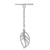 Toggle, Sterling Silver, Leaf, 24mm (Leaf) 18.5mm (Bar), 1 set