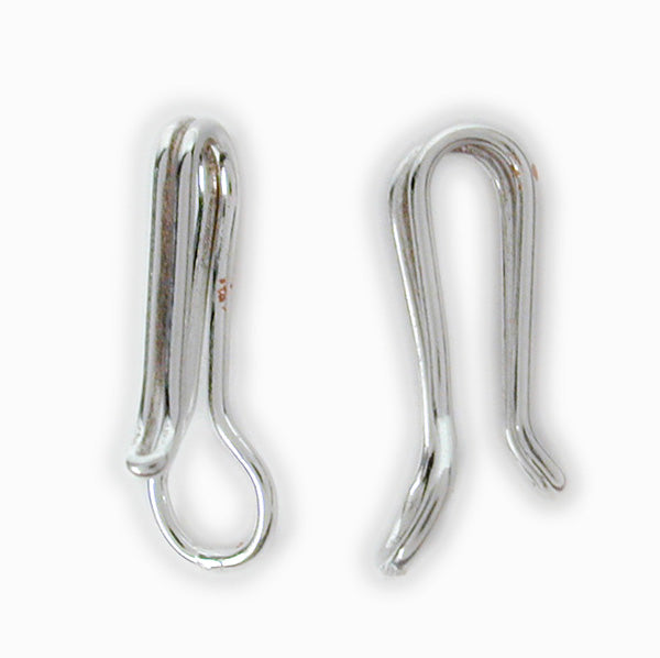 Clasp, Smooth Hook, Sterling Silver, 31mm X 4mm, Sold Per pkg of 1