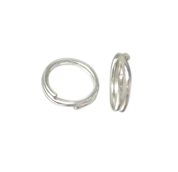 Split Rings, Sterling Silver, 6mm/1mm, Sold Per pkg of 2