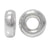 Bead, Sterling Silver, Roundel, 4mm/1.8mm hole, 4pc