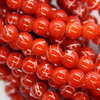 Marble Style Glass Beads, Scarlet Red Opaque, 6mm  - 1mm (hole), 140 pcs per strand
