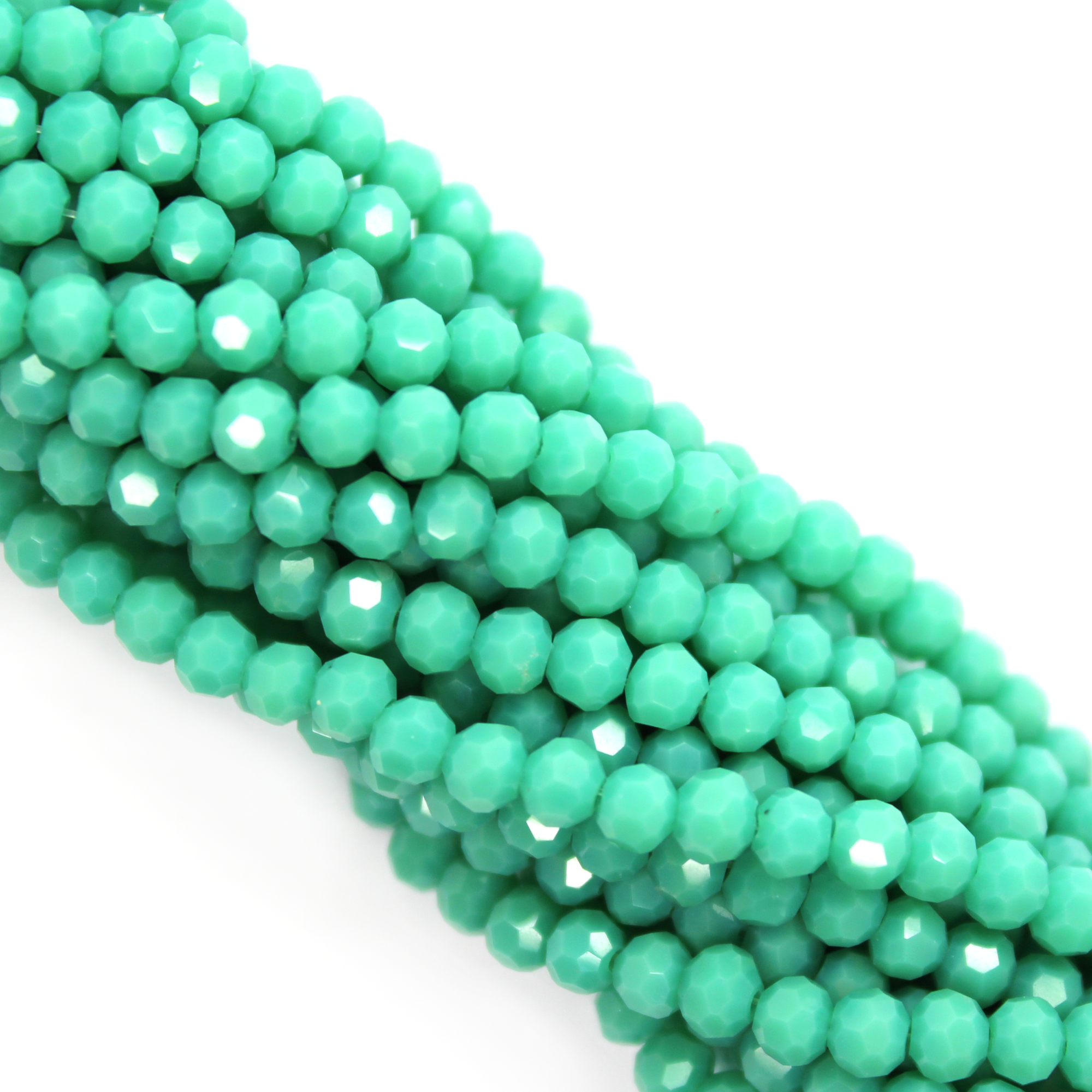 Chinese Glass Crystal, Round, Seafoam Green Opaque, 3mm, 190 pcs per strand