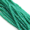 Chinese Glass Crystal, Rondelle, Seafoam Green Opaque, 4mm X 3mm, 140 pcs per strand