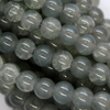 Marble Style Glass Beads, Seal Grey, 8mm  - 1mm (hole), 100 pcs per strand