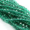 Chinese Glass Crystal, Rondelle, Shamrock Green, 4mm X 3mm, 140 pcs per strand